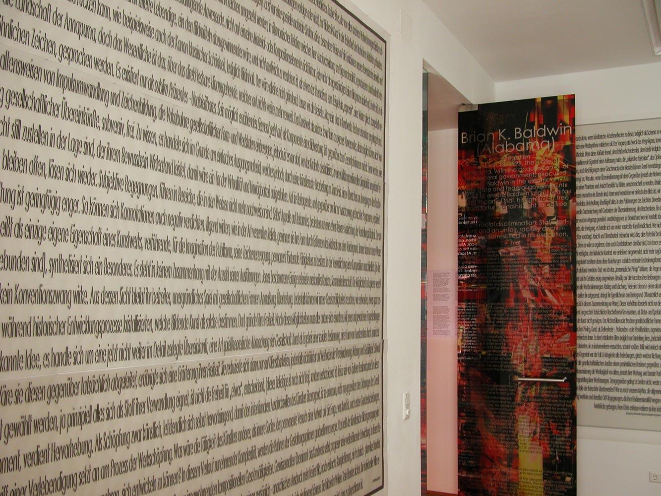 Herwig Steiner (1956L), Kunst der Attrappe, Ausschnitt Textfeld B C, Kunstraum Stephansplatz6 Wien, 2018 © Foto: Herwig Steiner (1956L)