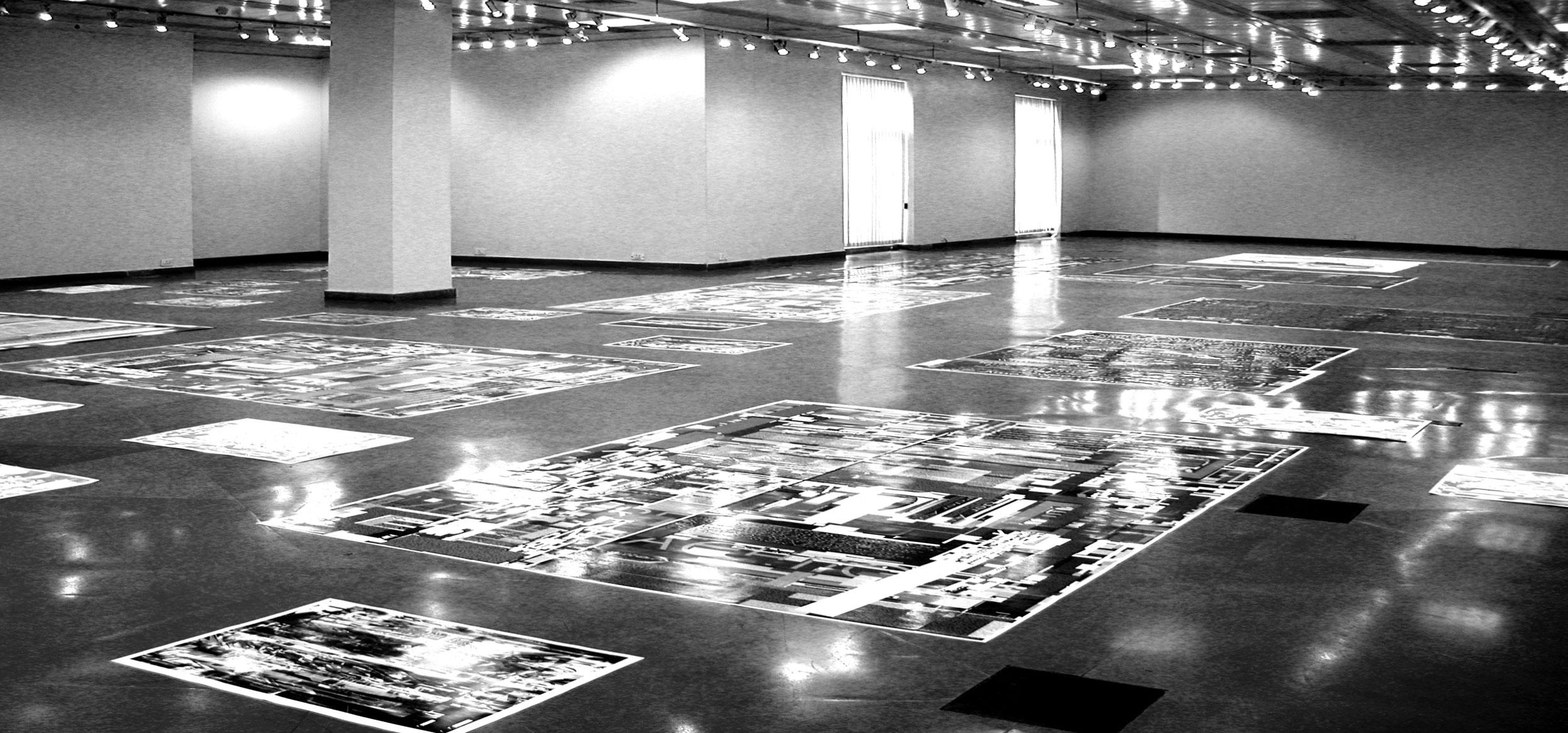 Herwig Steiner (1956L) Propaganda Series / Floorinstallation / computergenerierte Prints auf Papier / Visual Arts Gallery / India Habitat Center / New Delhi 2004