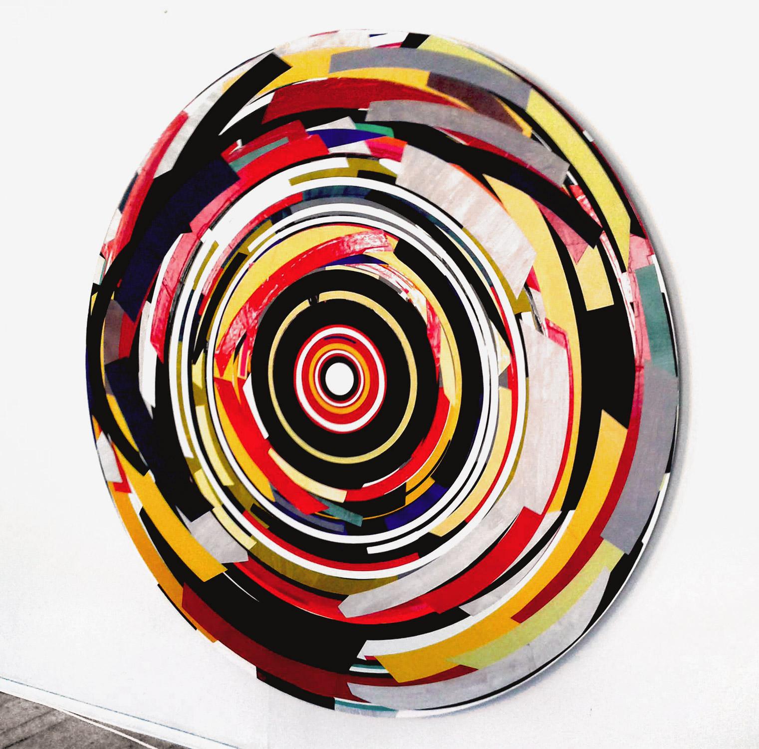 Herwig Steiner (1956L), Postattrappe F1S0-51b, 2009, Collage, Ø ca. 197cm