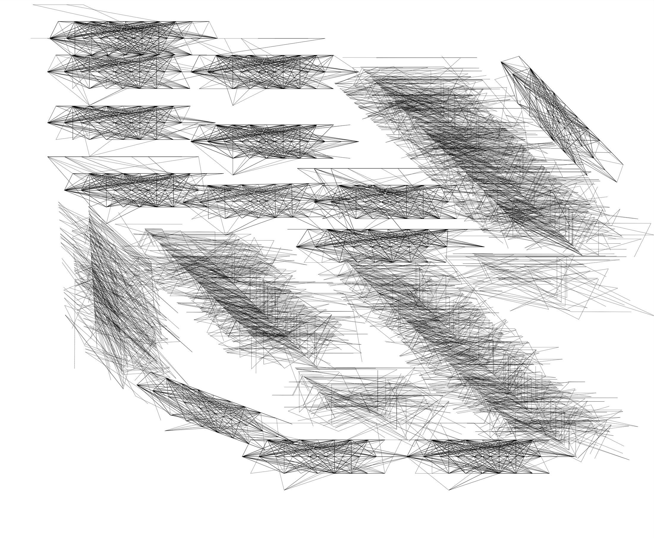 Herwig Steiner(1956L), Konzeptuelle Zeichnung{34}, Studie 65 zu Textbewegungsprotokoll, 2000