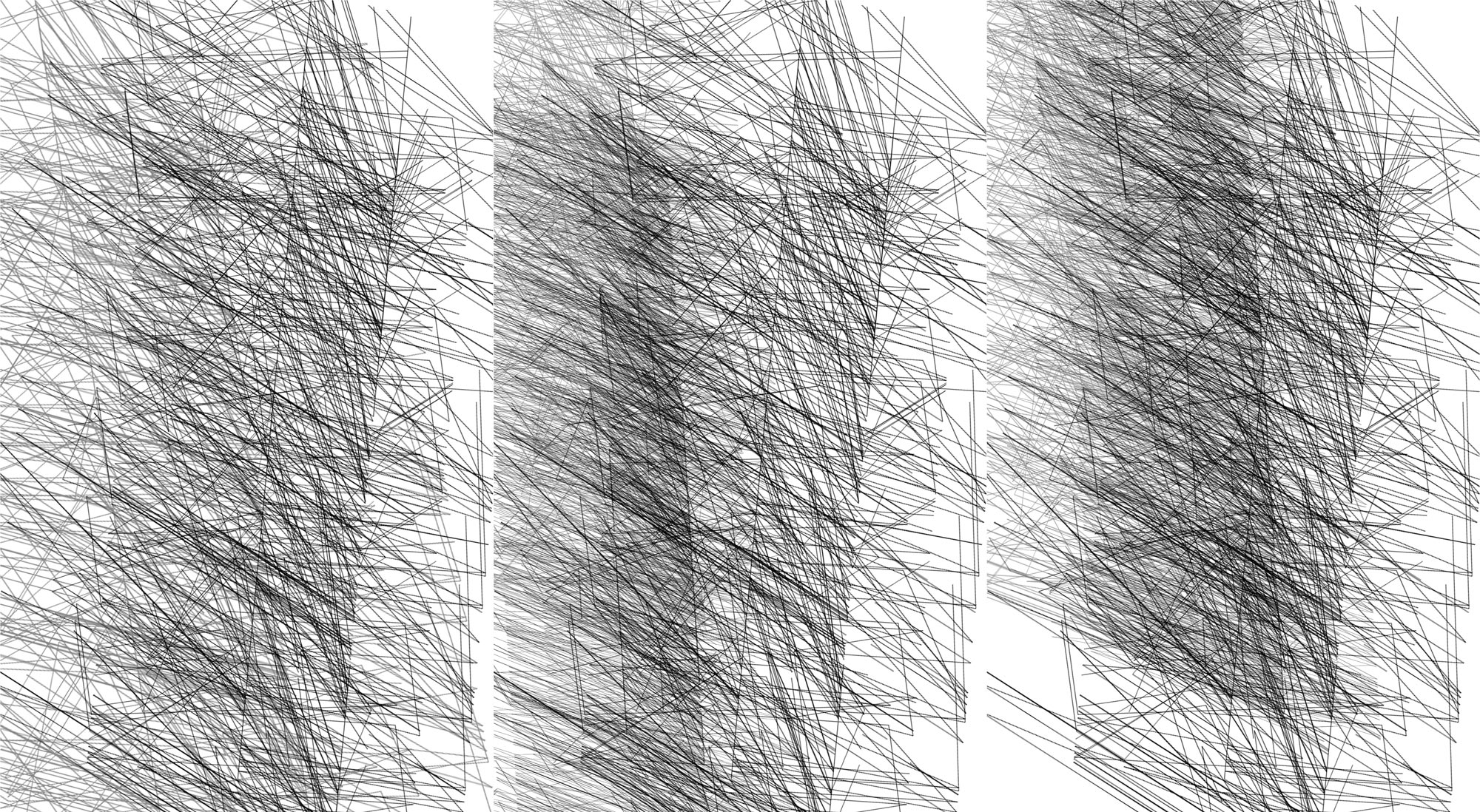 Herwig Steiner(1956L), Konzeptuelle Zeichnung{34}, Ausschnittkonstellation 9 Textbewegungsprotokoll, 2019