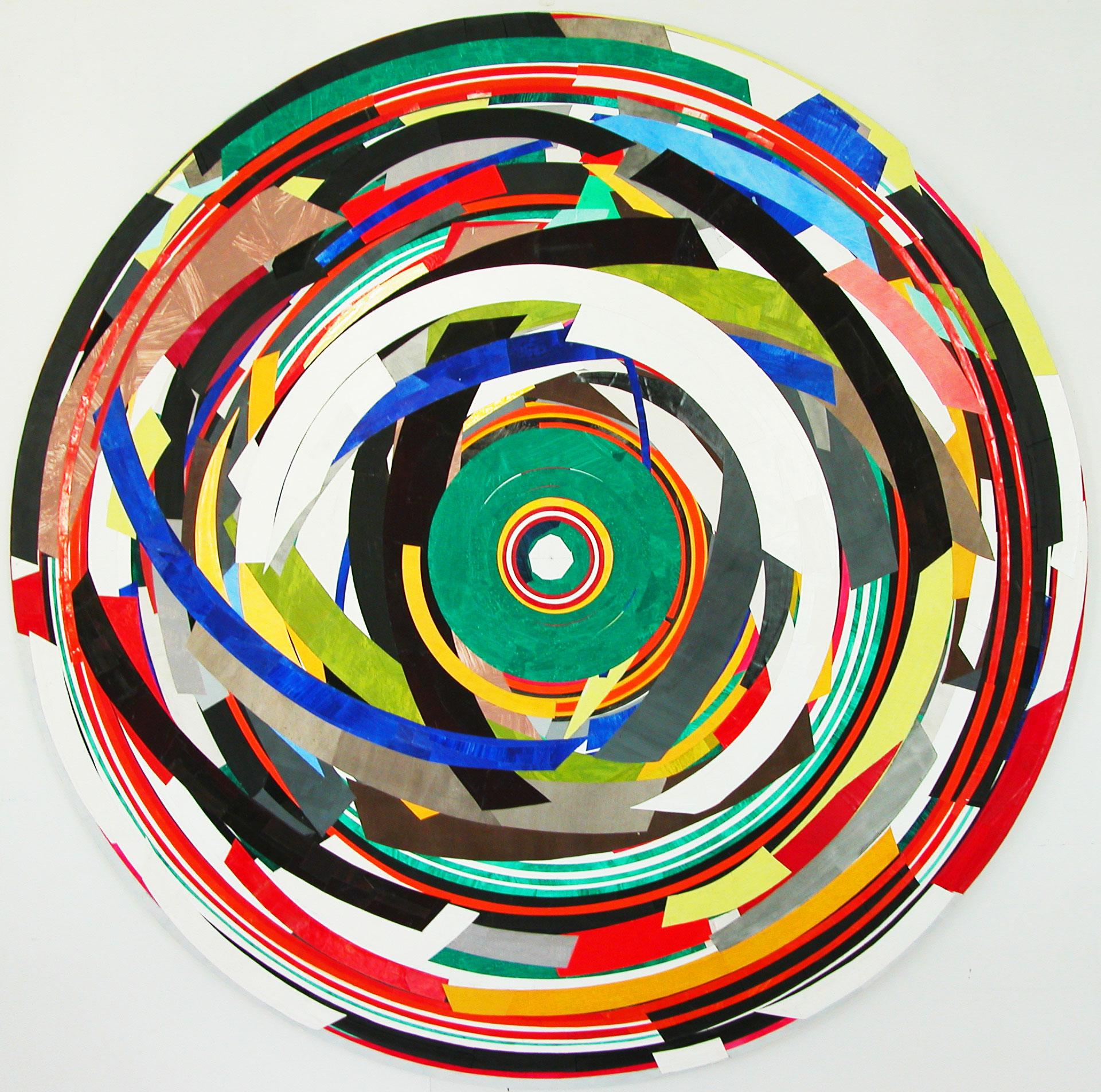 Herwig Steiner (1956L), Postattrappe S/2007/2009/063a-8890, 2019, Collage, Ø ca. 197cm