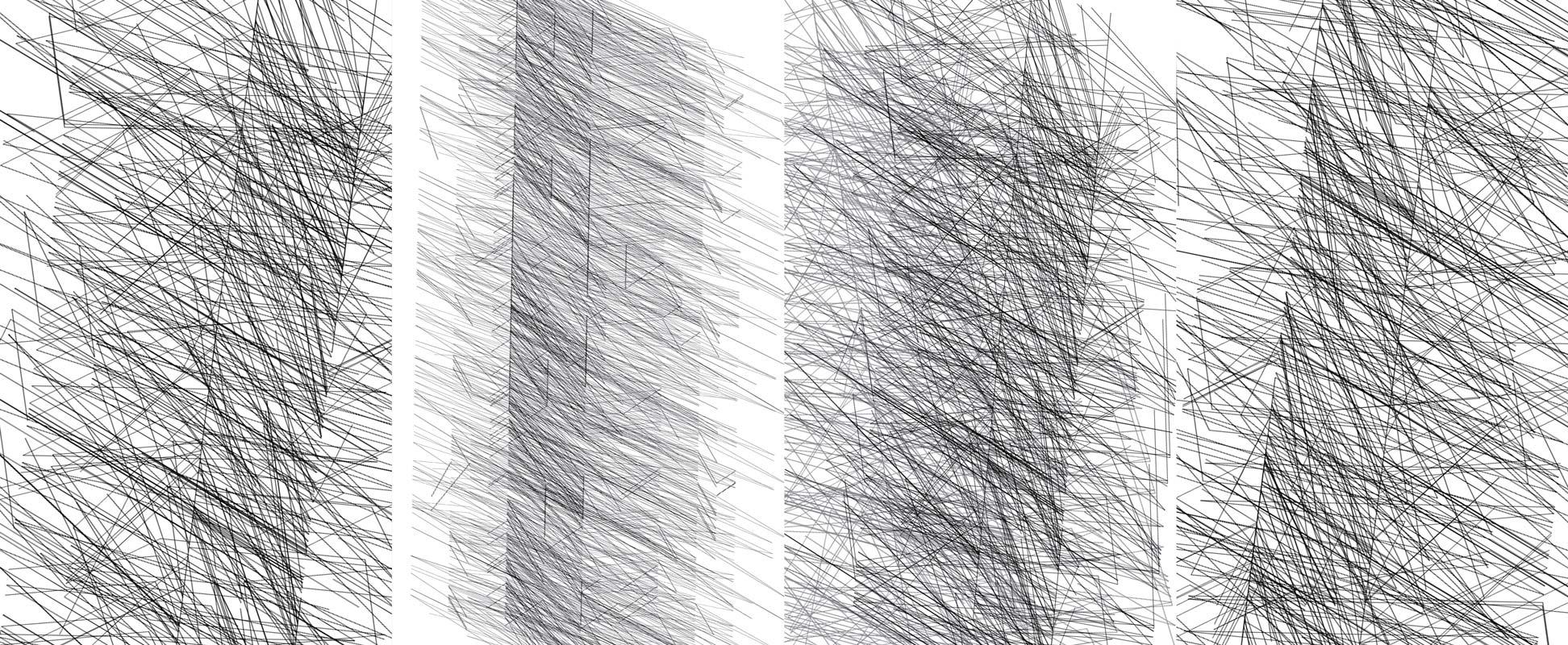 Herwig Steiner(1956L), Konzeptuelle Zeichnung{34}, Ausschnittkonstellation 12 Textbewegungsprotokoll, 2019