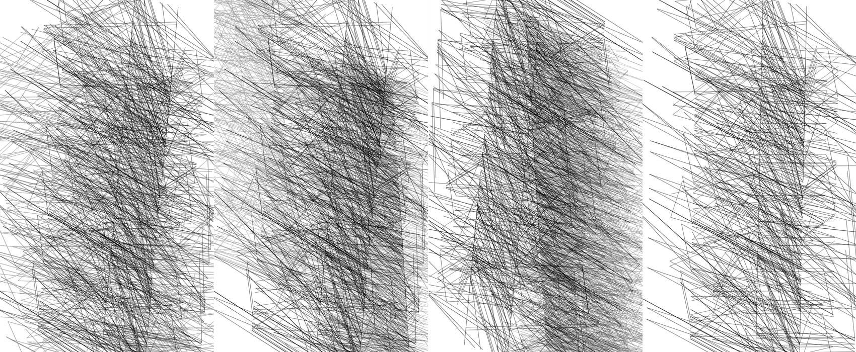 Herwig Steiner(1956L), Konzeptuelle Zeichnung{34}, Ausschnittkonstellation 8 Textbewegungsprotokoll, 2019