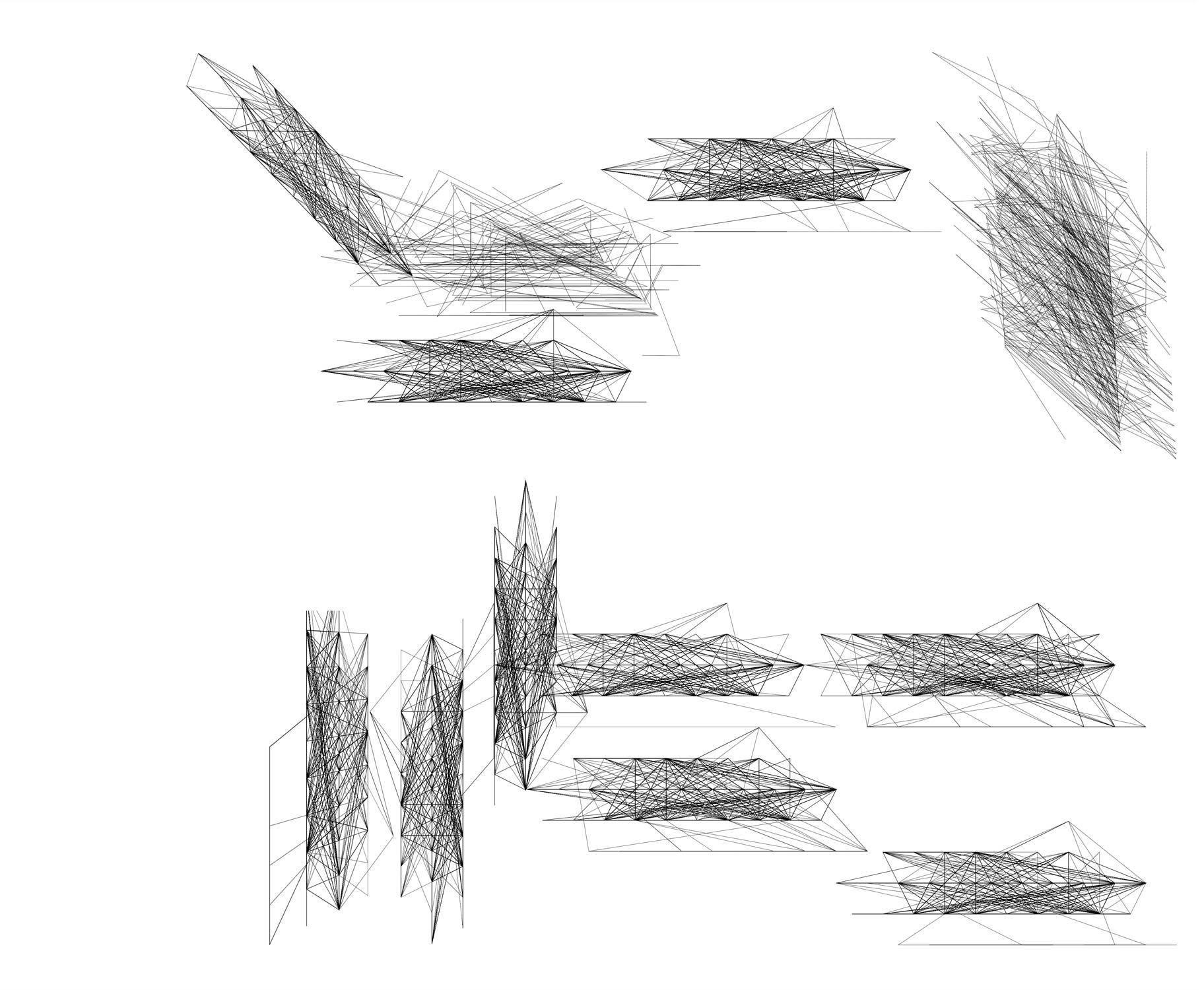 Herwig Steiner(1956L), Konzeptuelle Zeichnung{34}, Studie 93 zu Textbewegungsprotokoll, 2000