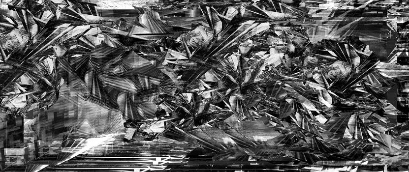 Herwig Steiner(1956L), Scenery, Schnappschuss 30vk, computergenerierte Zeichnung, (229,6x111,8cm), 2020