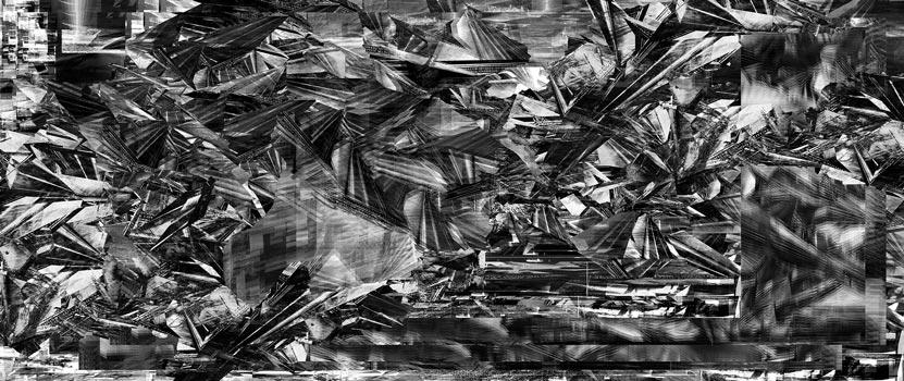 Herwig Steiner(1956L), Scenery, Schnappschuss 55vk, computergenerierte Zeichnung, (229,6x111,8cm), 2020