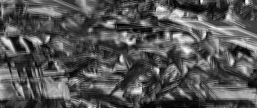 Herwig Steiner(1956L), Scenery, sp13, computergenerierte Zeichnung, (243,24x111,8cm*), 2018