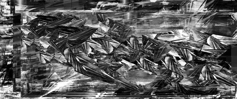 Herwig Steiner(1956L), Scenery, Sp266, computergenerierte Zeichnung, (229,6x111,8cm), 2017