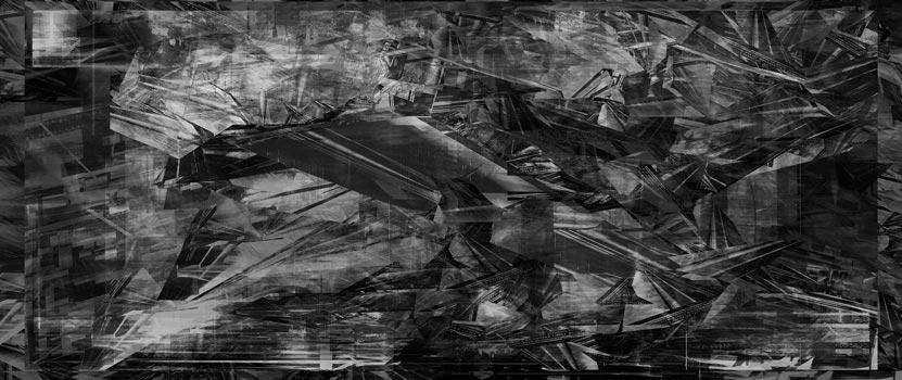 Herwig Steiner(1956L), Scenery, sp318, computergenerierte Zeichnung, (243,24x111,8cm), 2019