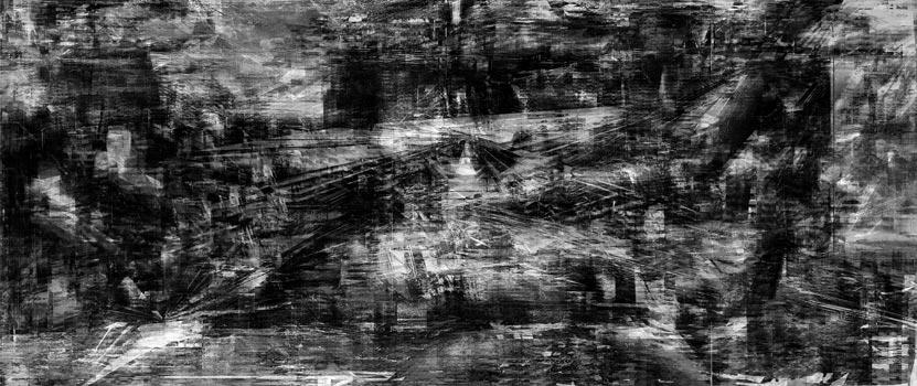 Herwig Steiner(1956L), Scenery, sp74, computergenerierte Zeichnung, (243,24x111,8cm*), 2016